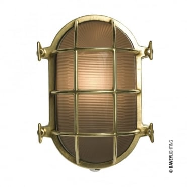 OVAL - Brass Bulkhead 7034 With Internal Fixing Polished Brass