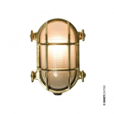OVAL - Brass Bulkhead 7036 With Internal Fixing Polished Brass