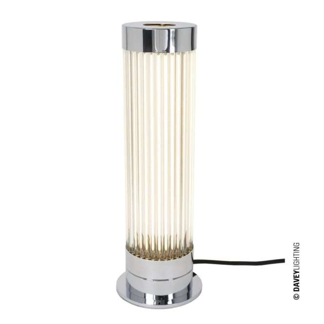 Davey Lighting PILLAR - LED Table Light in Polished Chrome with Glass Rods