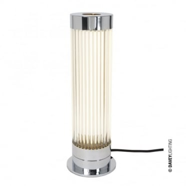 PILLAR - LED Table Light in Polished Chrome with Glass Rods