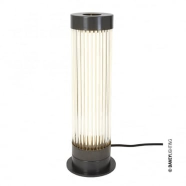 PILLAR - LED Table Light in Weathered Brass with Glass Rods