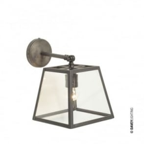QUAD - Wall Light Internally Glazed Weathered Brass Clear