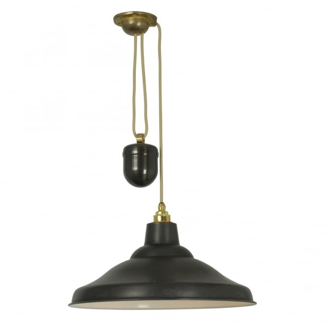 Davey Lighting RISE AND FALL - School Light Weathered Copper White Interior