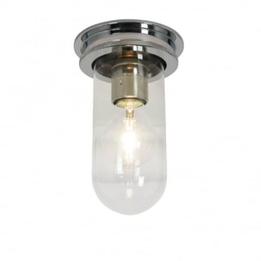 SHIP'S - Companionway Light Chrome Clear Glass