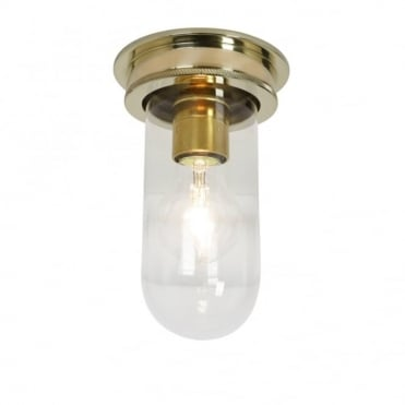 SHIP'S - Companionway Light Polished Brass Clear Glass