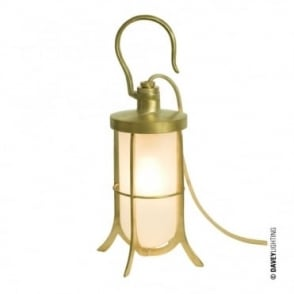 SHIP'S - Hook Table Light Frosted Glass Polished Brass