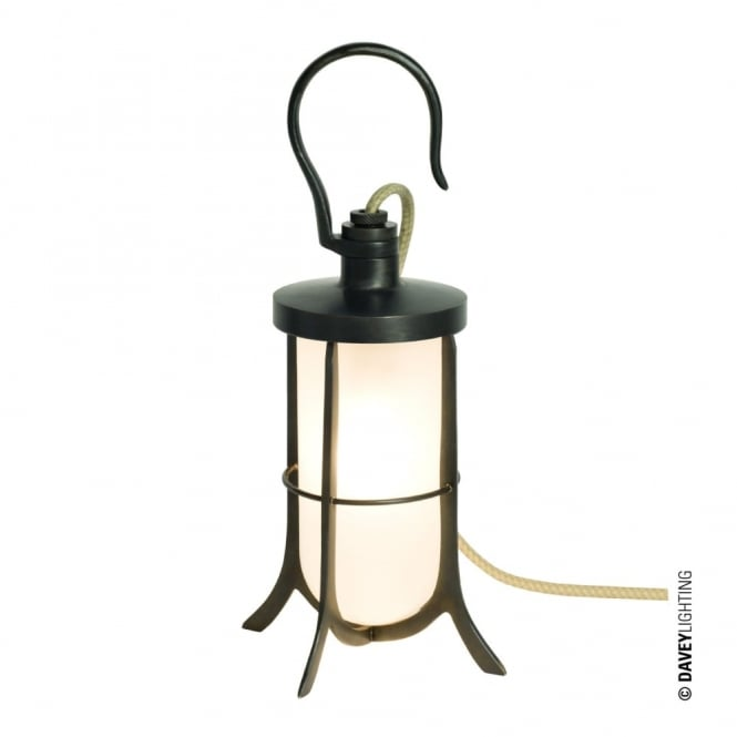 Davey Lighting SHIP'S - Hook Table Light Frosted Glass Weathered Brass
