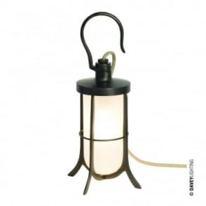 SHIP'S - Hook Table Light Frosted Glass Weathered Brass