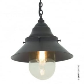 SHIP'S - Large Deck Light Ceiling Pendant in Weathered Brass Clear Glass