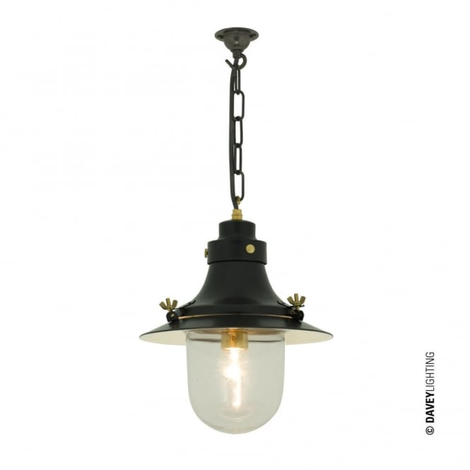 Davey Lighting SHIP'S - Small Decklight Painted Black Clear Glass
