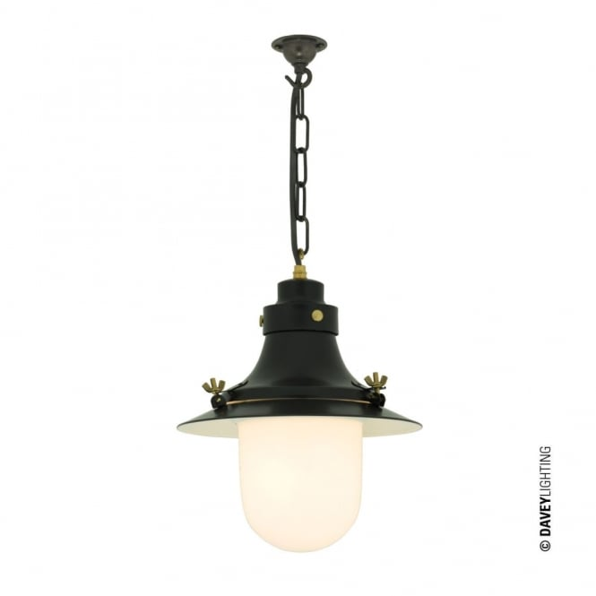 Davey Lighting SHIP'S - Small Decklight Painted Black Opal Glass