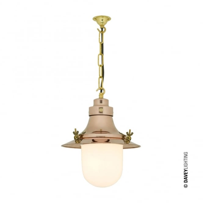 Davey Lighting SHIP'S - Small Decklight Polished Copper Opal Glass