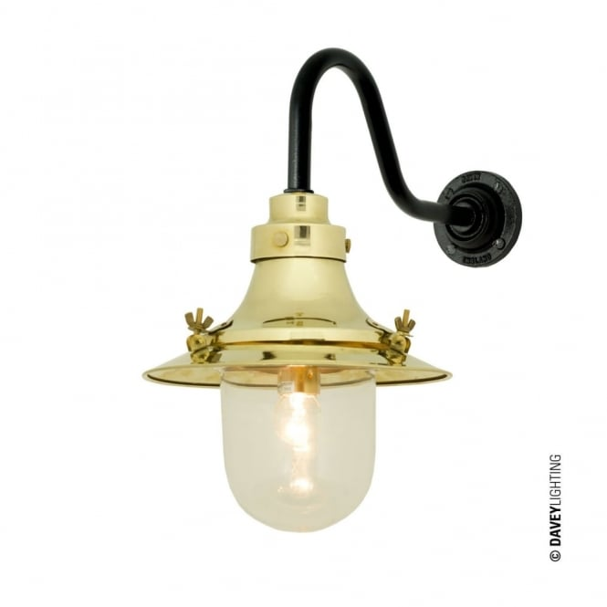 Davey Lighting SHIP'S - Small Decklight Wall Light Polished Brass Clear Glass