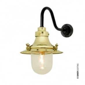 SHIP'S - Small Decklight Wall Light Polished Brass Clear Glass