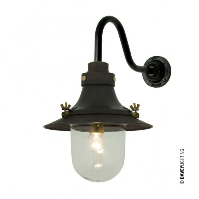 Davey Lighting SHIP'S - Small Decklight Wall Light Weathered Copper Clear Glass