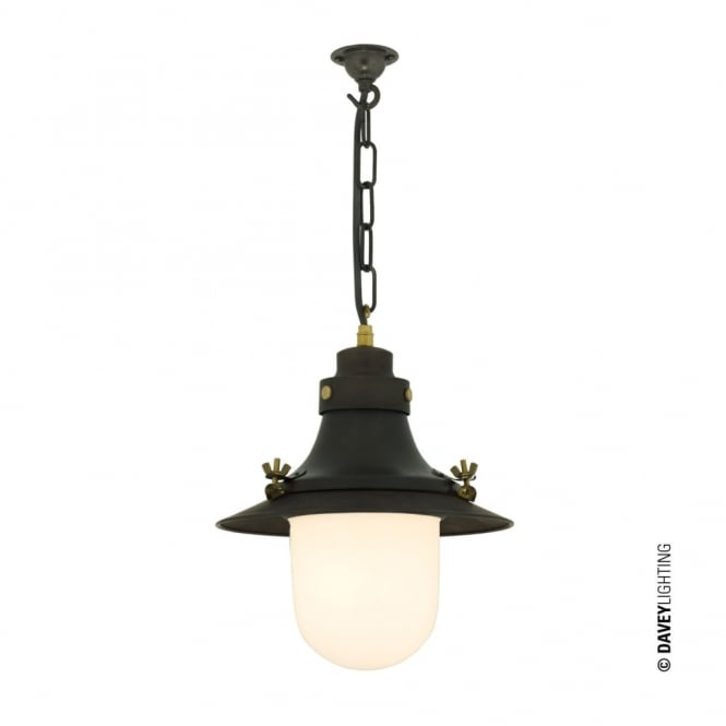 Davey Lighting SHIP'S - Small Decklight Weathered Copper Opal Glass