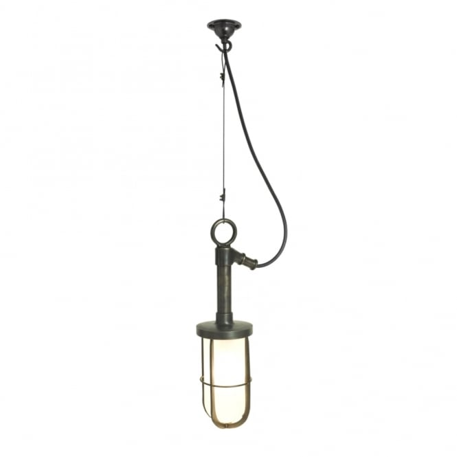 Davey Lighting SHIP'S - Well Glass Ceiling Ceiling Pendant Frosted Glass Weathered Brass