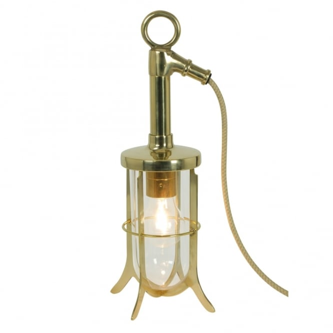 Davey Lighting SHIP'S - Well Glass Table Clear Glass Polished Brass