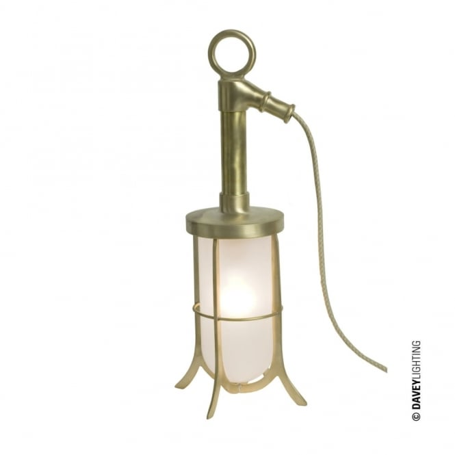 Davey Lighting SHIP'S - Well Glass Table Frosted Glass Polished Brass