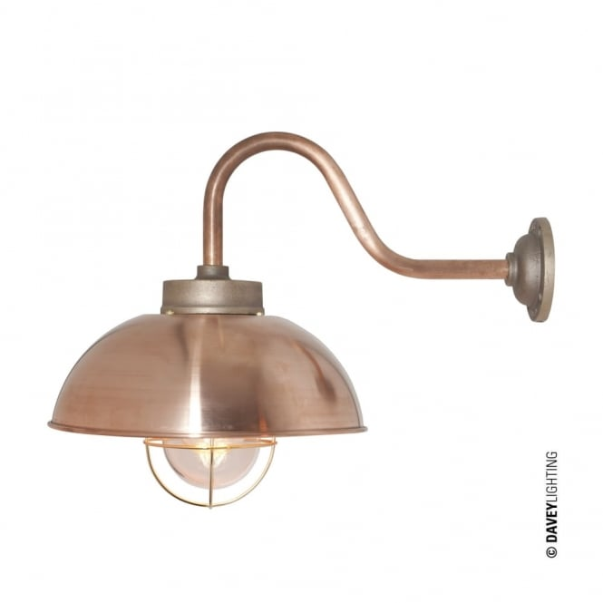 Davey Lighting SHIPYARD - Industrial Wall Light in Copper with Clear Glass
