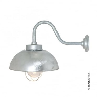 SHIPYARD - Industrial Wall Light in Galvanised Steel with Clear Glass