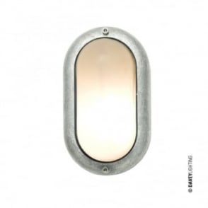 SMALL - Exterior Oval Bulkhead Fitting Aluminium