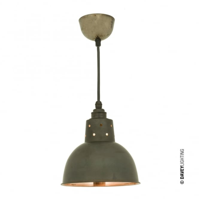 Davey Lighting SPUN - Reflector With Cord Grip Lampholder Weathered Copper/Polished Copper