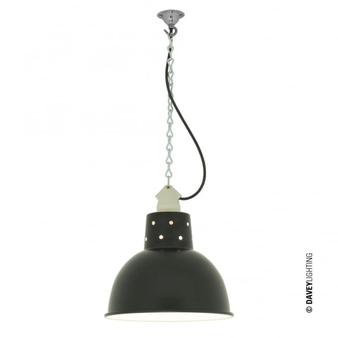 Davey Lighting SPUN - Reflector With Suspension Lampholder Painted Black