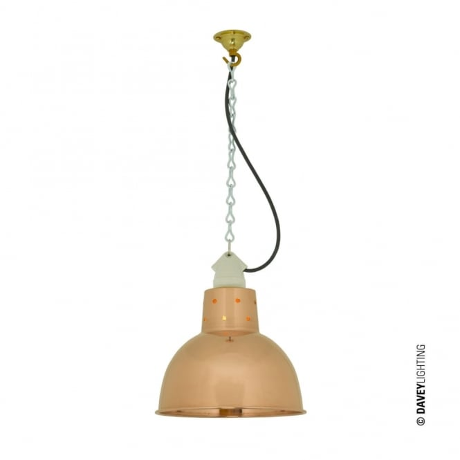 Davey Lighting SPUN - Reflector With Suspension Lampholder Polished Copper
