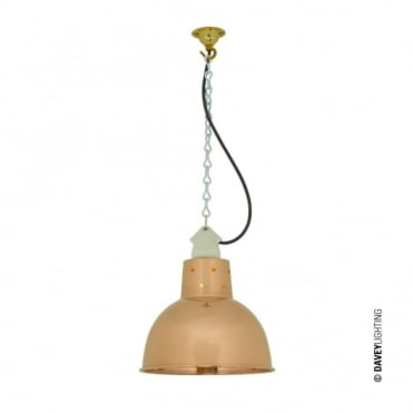 SPUN - Reflector With Suspension Lampholder Polished Copper