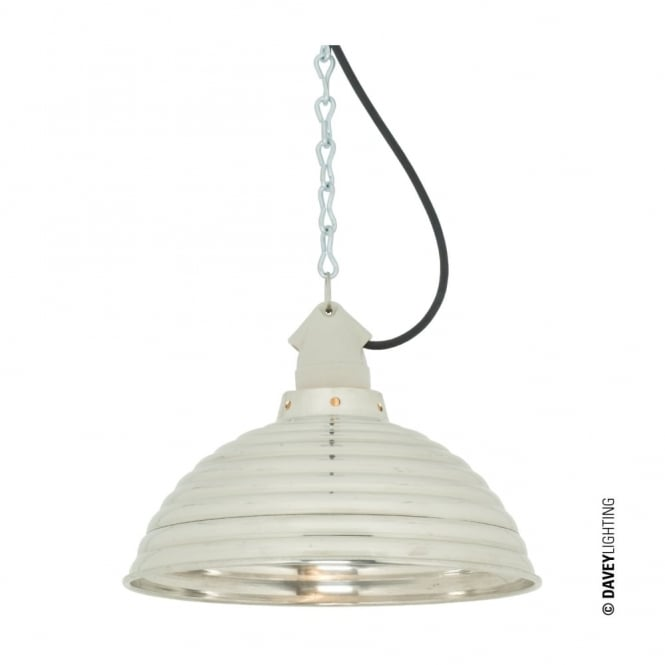 Davey Lighting SPUN - Ripple With Suspension Lampholder Polished Aluminium