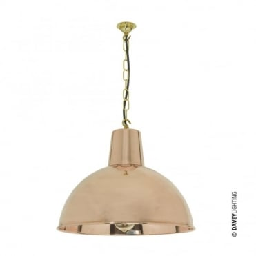 SPUN - Vintage Industrial Factory Inspired Ceiling Pendant Polished Copper