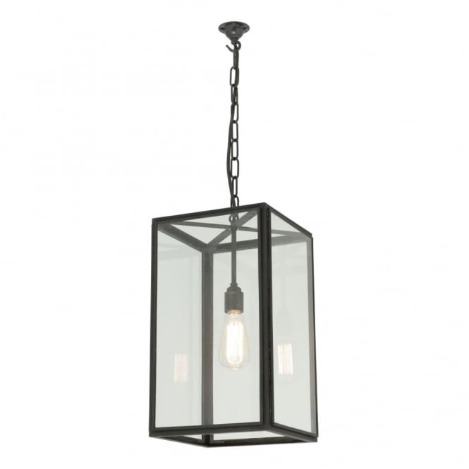 Davey Lighting SQUARE - Ceiling Pendant Glazed in Weathered Brass