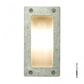 WALL/CEILING - Light Rectangular Plain Bezel Aluminium