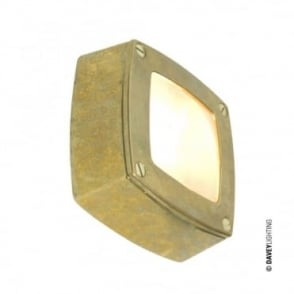 WALL/CEILING - Light Square Plain Bezel Brass