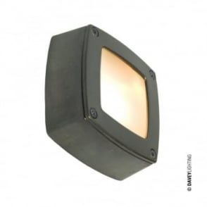 WALL/CEILING - Light Square Plain Bezel Weathered Brass