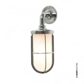 WEATHERPROOF - Ship'S Well Glass 7207 Wall Light Chrome Frosted Glass