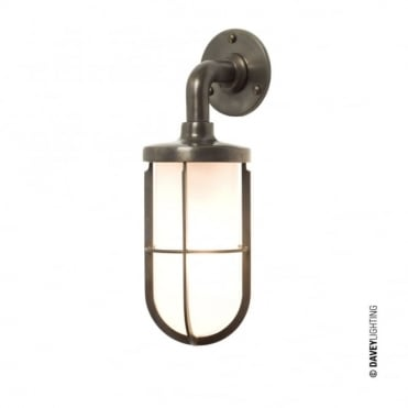 WEATHERPROOF - Ship'S Well Glass 7207 Wall Light Weathered Brass Frosted Glass