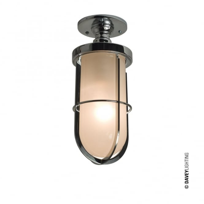 Davey Lighting WEATHERPROOF - Ship'S Well Glass Ceiling Chrome Frosted Glass