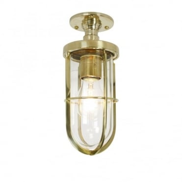 WEATHERPROOF - Ship'S Well Glass Ceiling Polished Brass Clear Glass