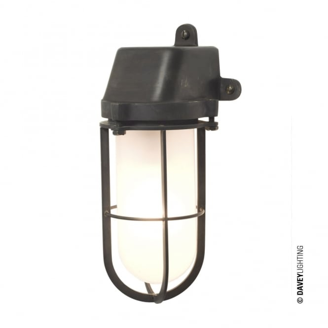 Davey Lighting WEATHERPROOF - Ship'S Well Glass Weathered Brass Frosted Glass E27
