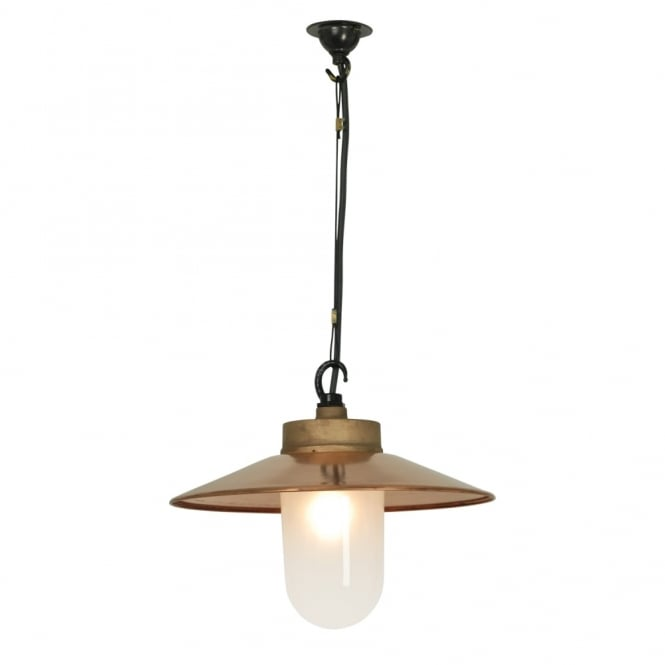 Davey Lighting WELL - Glass Ceiling Pendant With Visor Gunmetal Frosted Glass