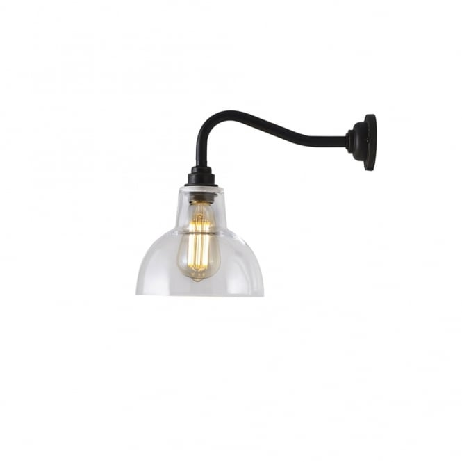 Davey Lighting YORK - Glass Wall Light Small With Clear Glass In Weathered Brass