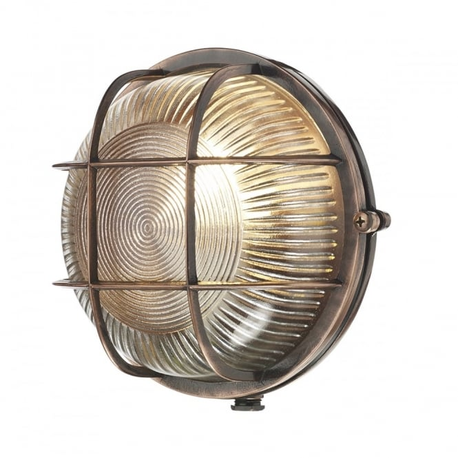 ADMIRAL - Exterior Round Flush Antique Copper