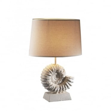 AMMONITE - Stone Fossil Table Lamp