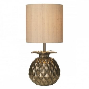 ANANAS - Bronze Pineapple Table Lamp Complete With Shade