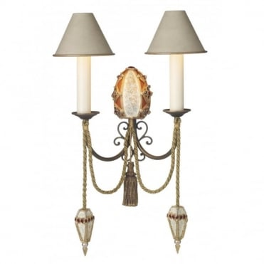ANASTASIA - Baroque Style Double Wall Light Fitting
