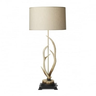 ANTLER - Bleached Table Lamp C/W S051 Natural Shade (2 Box