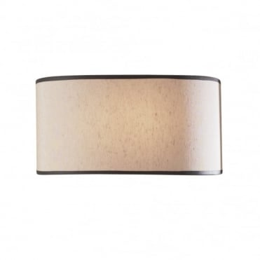 ASCOTT - Curved Wall Panel Light With Beige Shade