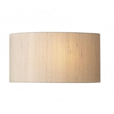 ASCOTT - Curved Wall Washer Light With Taupe Silk Shade